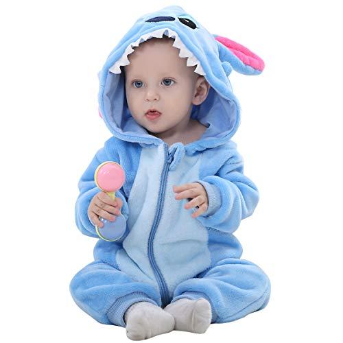 SONARIN Peleles Unisex para bebé Resistant Fleece Footed Pajamas Bebé-Niños,Onesie Cartoon Animal Romper