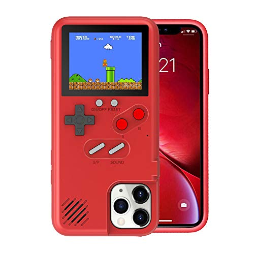 Gameboy Case for iPhone Xs Max for Women, VOLMON Game Console Case with 36 Built-in Games for iPhone Xs Max, Color Display Retro Game Case, Pretty Girl Case Funny for iPhone Xs Max, 6.5 Inch