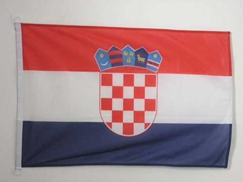 AZ FLAG Flagge Kroatien 90x60cm - KROATISCHE Fahne 60 x 90 cm Aussenverwendung - flaggen Top Qualität