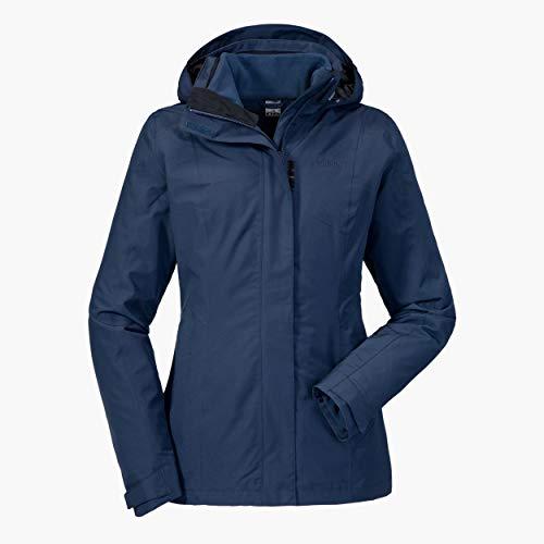 Schöffel Damen 3in1 Jacket Tignes1 wasserdichte Winterjacke mit herausnehmbarer Inzip Fleecejacke, atmungsaktive und warme Regenjacke