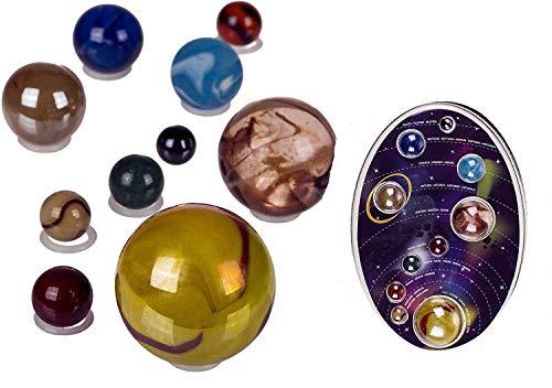 Bavaria Home Style Collection Glas Murmeln Sonnensystem , Murmeln in den Farben unserer Planeten und Sonne