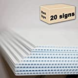 "20 Blank Signs White 18""x24"" for Garage Sale Signs, for Rent, Open House, Estate Sale, Now Hiring or Political Lawn Signs"