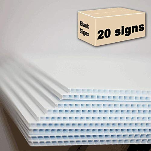 """Yard Signs 20 Blank Signs White 18""""x24"""" Usually Ship Same Day"""