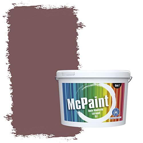 McPaint Bunte Wandfarbe extramatt für Innen Herbstrot 5 Liter - Weitere Violette Farbtöne Erhältlich - Weitere Größen Verfügbar