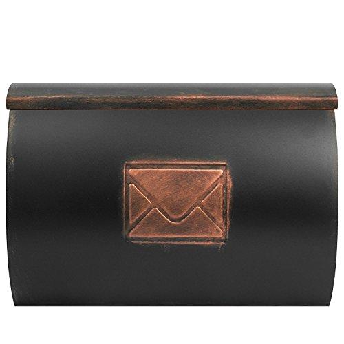 Briefkasten Postkasten Wandbriefkasten mit Zeitungsfach Zeitungsrolle/Bronze