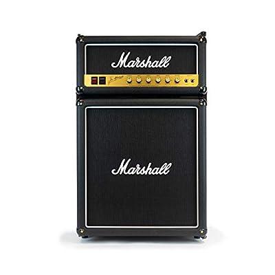 Marshall MF44BLKNAU 4.4 Cubic-Foot Bar Fridge with Freezer, Black