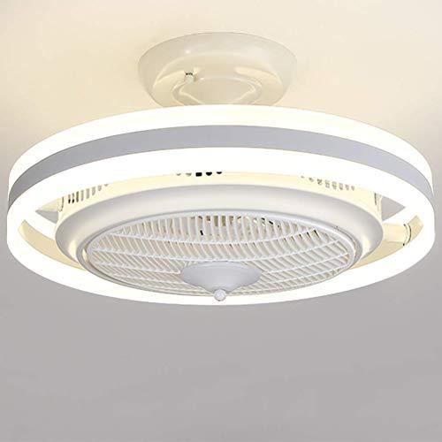 GXFXLP 48WLED Deckenventilator Licht, Ionen Negativo Luftreinigung Kronleuchter DREI-Geschwindigkeit Windgeschwindigkeit Deckenleuchter, Geeignet Für Esszimmer Wohnzimmer Schlafzimmer,Blanco,60cm