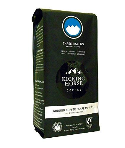 Kicking Horse Ground Coffee, Three Sisters Medium Roast, 10 Ounce (Pack of 2)