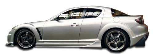 Extreme Dimensions Duraflex Replacement for 2004-2011 Mazda RX-8 Vader Side Skirts Rocker Panels - 2 Piece