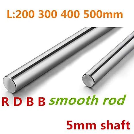 Zamtac 3D Printer Rod Shaft WCS 5mm Linear Shaft Length 450mm Chrome Plated Linear Guide Rail Round Rod Shaft 1pcs Size: 450mm