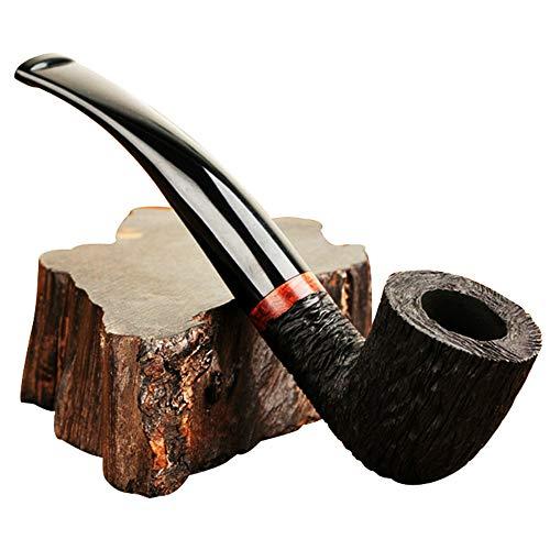 SADSA Pfeife Rauchen Holzröhre Briar Gebogene Holzröhre Geschnitzte Röhre Tabak Tabak Tabak Zigarettenfilter Abnehmbarer Griff