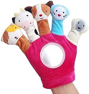 Tobeape® Hand Finger Plush Puppets Glove, Baby Child Zoo Farm Animal Hand Sock Glove Puppet Finger Sack Plush Toy