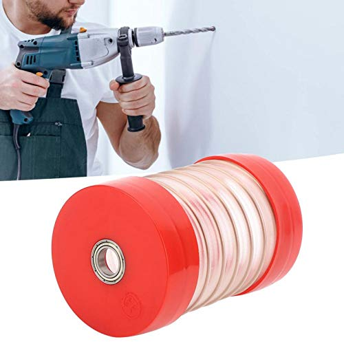 Eulbevoli Cubierta de Polvo de Martillo eléctrico de plástico Cubierta de Polvo de Taladro Cubierta de Polvo para Brocas Dentro de 160 mm / 6.3in(Red, Square Handle)