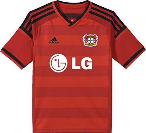 adidas Kinder Bayer 04 Leverkusen Away 2015/2016 Auswärttrikot, rot, 152