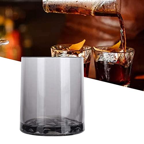 SALUTUY Copa de Vino, Buen Efecto Decorativo Copa de Bebida con Fondo de Diamante para Bebidas como té perfumado, Jugo de Fruta, café, Leche(Gris)