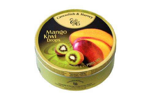Cavendish & Harvey - Mango & Kiwi Drops - Bonbons, 200g in Metalldose
