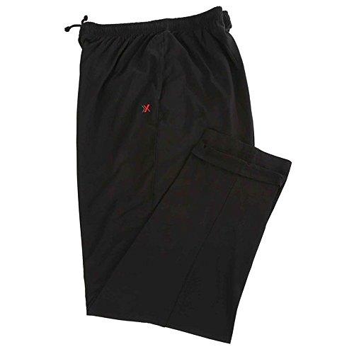 pantaloni tuta 5xl uomo Maxfort Pantalone Tuta Taglie Forti Uomo Leggero Praga - Nero