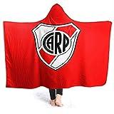 XCNGG Manta con Capucha Hooded Blanket Throw Club ATL¨¦Tico River Plate Super Soft Sherpa Fleece Blanket Hood Poncho Cloak Cape