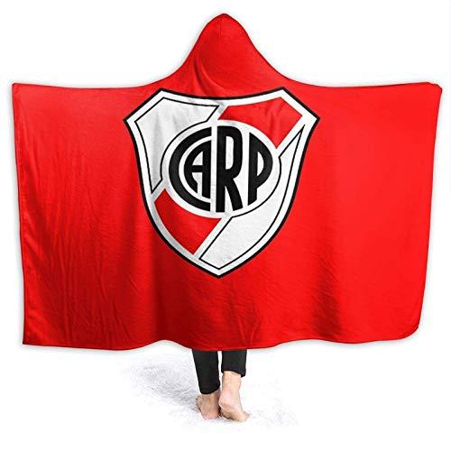 XCNGG Kapuzendecke Hooded Blanket Throw Club ATL¨¦Tico River Plate Super Soft Sherpa Fleece Blanket Hood Poncho Cloak Cape