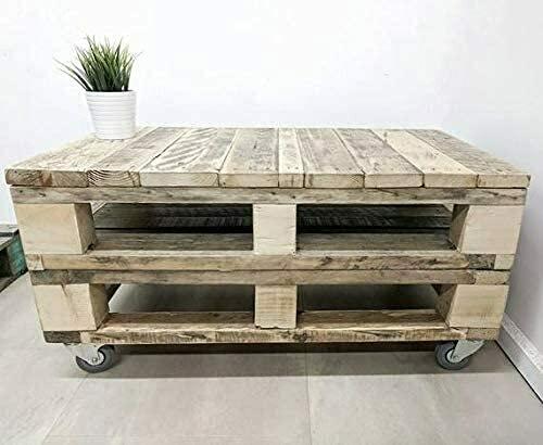 Mesa de Centro Industrial - Terraza, Patio, Salón, Interiores, Exteriores - Muebles con palets de Madera, Mobiliario Rustico