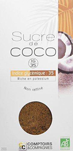 Comptoirs Et Compagnies Recharge Sucre De Fleurs De Noix Coco Bio 200 G