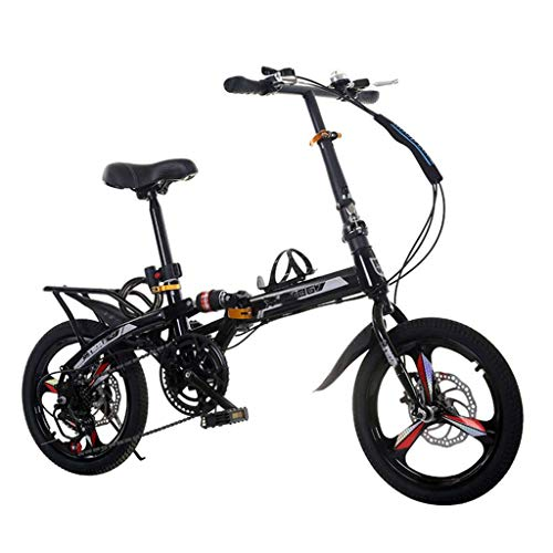 BEIGOO 16/20 Zoll Klapprad Faltrad Nabenschaltung Leichte 7 Gang Stoßdämpfung Geschwindigkeit Klappfahrrad Folding Bike-schwarz-20Zoll