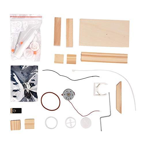 Modelo de ensamblaje Juguete, DIY Ensamblado Generador de madera eléctrico Conjunto de...