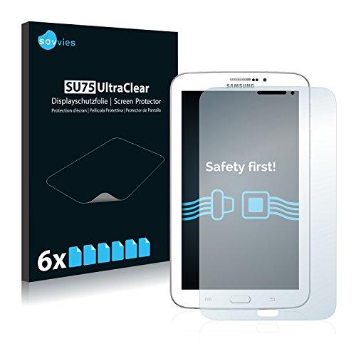 savvies 6-Pezzi Pellicola Protettiva Compatibile con Samsung Galaxy Tab 3 (7.0) 3G SM-T211 Protezione Schermo Trasparente
