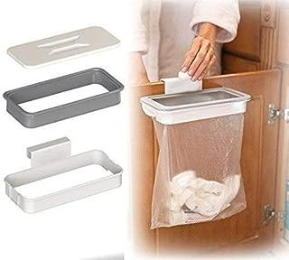 Pveath Attach A Trash - Hanging Trash Bag Holder,Cupboard Door Back Trash Rack Storage, Waste Bin,Kitchen Cabinet Garbage Tools