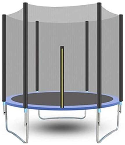 KaiKai Schaukel Trampolin Durch Sicherheits Cover Test mit Sicherheitsnetz Runder Garten Trampolin Leiter und Auto Bar im Freien Blau 306 cm Indoor Trampoline