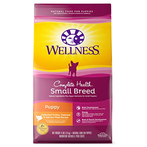 Wellness Complete Health Small Breed Dry Puppy Food, Turkey, Salmon & Oatmeal, 4-Pound Bag