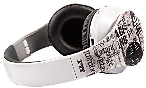 XX.Y® Stereo Kopfhörer mit integriertem MP3/4 Player modernes und dezentes Design, Lautstärkesteuerung Kabel weiß