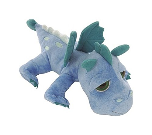 Unbekannt Li'l Peepers 14252 - Suki Gifts Plüschtier Drache Firestorm mit Bestickung, 33 cm, blau