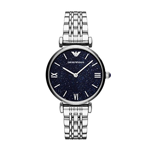 Emporio Armani Damen Analog Quarz Uhr mit Edelstahl Armband AR11091
