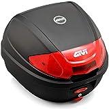 GIVI (ジビ) バイク用 リアボックス 30L 未塗装ブラック レッドレンズ モノロックケース E300N2 76872