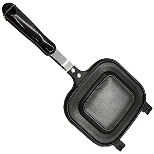 UPKOCH Sandwich Maker Waffeleisen Sandwich Grill Nicht- Stick Gusseisen Kochen Platten Arbeitsplatte Frühstück Brot Toaster Perfekte für Gegrillte Käse Ei Steak Schwarz