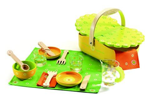 Djeco - Holzspielzeug My Pic nic Picknickkorb mit Zubehör
