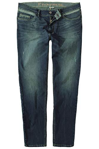 JP 1880 Herren große Größen bis 66, Bauch-Fit Jeans, Dirty Dyed, 5-Pocket, Tapered Loose Fit, elastischer Denim, darkblue 54 723401 93-54