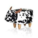 Dongy Pouf Animali ottomano Mucca Pouf Carino for poggiapiedi Sgabello Creativo for Bambini Adulti Sedile Imbottito Pouf Antiscivolo for Camera da Letto Soggiorno Poggiapiedi da Ufficio