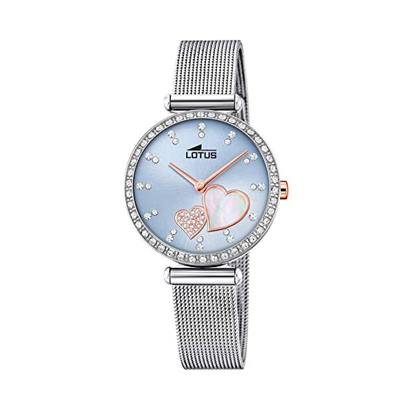 Lotus Reloj Analógico para Mujer de Cuarzo con Correa en Acero Inoxidable