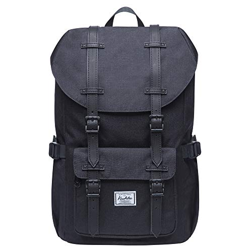 "Travel Laptop Backpack, Outdoor Rucksack, School backpack Fits 15.6""(Nylon Black)"
