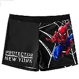 GJZhuan Traje De Baño Spiderman para Niños, Pantalones Cortos Entrenamiento Natación, Traje Piscina, con Estampado 3D,Black-Kids/S(16.5~25kg)