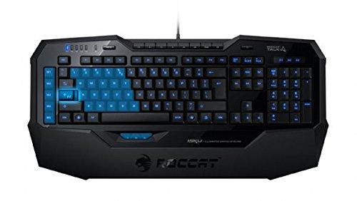 ROCCAT Isku Illuminated Gaming Tastatur (Spanisches Layout, 123-Tastenanzahl, USB 2.0) für PC/Gaming, Schwarz