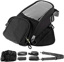 Keenso Motorcycle Tank Bag, 6L Large Capacity Motorcycle Gas Tank Bag Magnetic Motorcycle Gas Oil Fuel Tank Bag Waterproof Motorcycle Phone Holder Bag Motorbike Luggage Bag Black