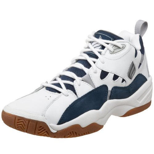 Ektelon Men's NFS Classic MID Racquetball Shoes,White/Navy,7 D(M) US