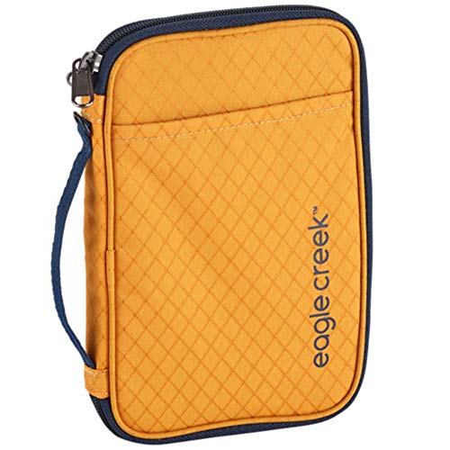 Eagle Creek RFID Travel Zip Organizer, Sahara Yellow, One Size