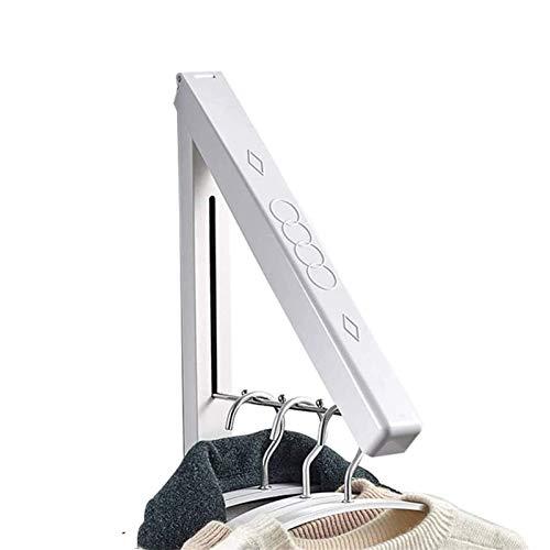 LXLTL Wall Hanger, Coat Hanger for Clothes Coat, Folding Wall Mounted Coat Hanger Racks, Carbon Steel Wardrobe Hooks for Bedroom Bathroom Balcony Laundry,1Pcs