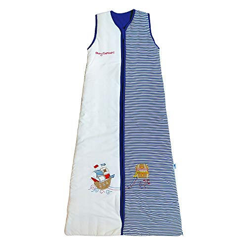 Slumbersac PREMIUM Sacco a pelo per bambini per tutte le stagioni 2.5 Tog - Pirata - 130 cm/3-6 anni