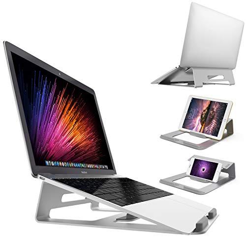massway Supporto per Computer Portatile, Laptop Stand Stabile Lega di Alluminio Integrato Design, 15.6' Multifunzione Supporto Laptop Ergonomico per M