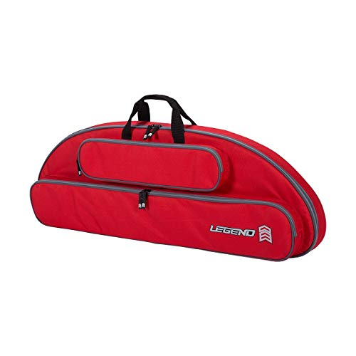 Legend Wolf Original Genesis Compound Bow Case - Thick Padding, Backpack Straps, Soft Handles for NASP Archery (Red)